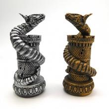 dragon échecs wyrm tour planche Jeux échecs dragon résine