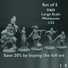 impostato 5 d d grande scala miniature 1 32 negozio zombie miniatura orco d d maga 1 32 moschettiere