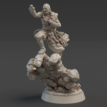daruma terra monaco tavolo Drago fantasia combattente eroe miniature monaco fucina impero titano