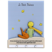pettita Príncipe percha v2 leyendo libro lindo decoración decorativo zorro percha pared Principito Príncipe colgar vivo