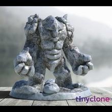 stone golem store figure golem mini rpg stone rock miniature large d&d dwarven 28mm mm 28