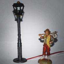 rue lampes berceaux lampione berceaux Noël lampe lumière rue scène diorama lit bébé crèche lit bébé berceaux