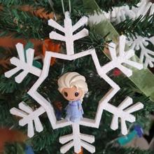 Natal árvore enfeite lápis chapéus coco ooshies decoração loja Natal desenho animado crianças decoração presente crianças enfeite lápis brinquedo árvore filmes animação anna congeladas Elsa meninas chapéus coco ooshies