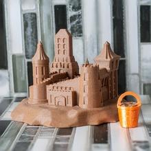 sand castle architecture beach ocean sand miniature organic castle sand-castle pail