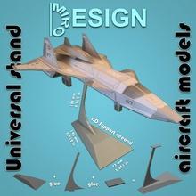 universale In piedi aeromobili Modelli aeromobili aereo facile kit modello montare scala In piedi giocattolo miniatura assemblaggio universale militare plastica modellino in scala