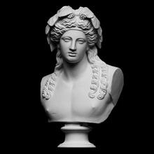 fracasso Dionísio Varredura fracasso fêmea Deus cabelo mitologia retrato vinho masculino gesso uvas fundida cópia Baco Dionísio openglam Crawford