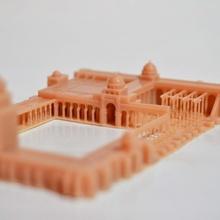 großartig Moschee Kairouan Tunesien Afrika Architektur Gebäude mittelalterlich Tempel Arabisch Moschee Schloss Wahrzeichen Islam islamisch Muslim Festung Miniwelt Tunesien Tune miniworld3d Mücke Tunesien Kairouan