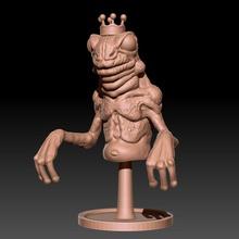 rana Príncipe mesa busto criatura fantasía divertido labios zbrush base rana Príncipe cuento hadas sapo barriga