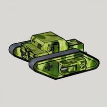 wwi german fictional rhomboid rc tank wwi german fictional rhomboid rc tank