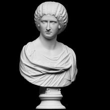 retrato nobre senhora Varredura fracasso fêmea senhora retrato escultura mulher gesso nobre artec julia domna septimius severus cc0 openglam artec eva smk open
