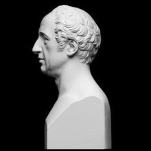 Giovanni Battista özetlenmiş taramak büst adam Vesika heykel mermer erkek Thorvaldsen Artec bertel thorvaldsen cc0 Openglam 3d scanning thorvaldsen2020 giovannibattistasommariva arte eva