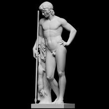 Adonis taramak adam mitoloji heykel mermer erkek ölüm çıplak hayat neoklasik full figure Artec yakışıklı Adonis idealize edilmiş bertel thorvaldsen cc0 Openglam thorvaldsen2020 Saabye mür