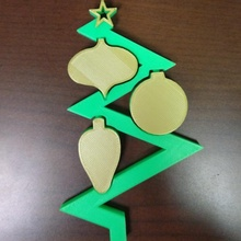 zig-zag christmas ornament christmas cool art gold ornament star tree unique creative festive holiday artistic merrychristmas