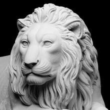 yaslanmış aslan taramak hayvan kedi aslan heykel mermer Avusturya 3dprinting Danimarka memeli neoklasik Thorvaldsen bertel Schwarzenberg cc0 Openglam artec eva thorvaldsen2020