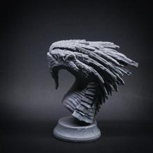 crystal dragon sports & outdoor anatomy animal beast bust creature dragon figurine monster stone character miniature sla crystal resin dlp tale tabletop dnd vlado turek
