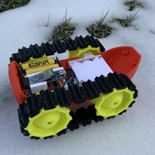dieselpunk racer poorman version car arduino robot tank toy rc ossum diselpunk