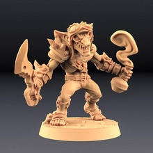 sparksoot goblin - tabletop goblin mini miniatures modular unit miniature weapons monsters tabletop wargame encounter dnd pathfinder goblins units artisan guild sparksoot