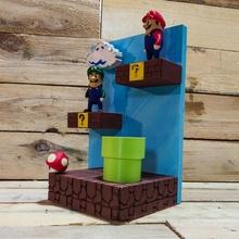 diorama mini droits figurines inclus mario Luigi Super mario diorama dsk