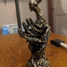 greeter bust creature fantasy female character surreal steampunk scifi tabletop abstract ornate biomechanical