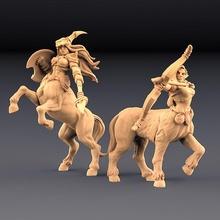 Sagitário Khararis 2 centaurides Heroínas conjunto amazonas kickstarter tampo mesa dragões masmorras figura floresta kickstarter senhora mini miniaturas mitologia selvagem madeira miniatura centauro tampo mesa minis