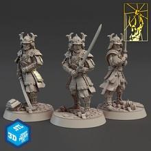 kılıç ustaları masaüstü Ejderha dövüşçü minyatürler savaşçı Katana dövme samuray imparatorluk titan