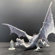 green dragon pose 3 tabletop creature dragon dungeons fantasy figurine green mini monster miniature tabletop