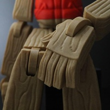 Babbo Natale aiutante marionetta freddo arte design giocattolo 3dprinted 3dprint 3dmodel fantoccio collezione 3dart giocattolo d'arte fillamentum elettrodomestici giocattoli revtec3d