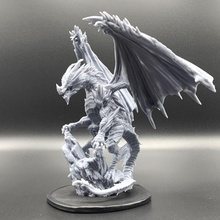 crystal dragon pose 1 tabletop creature dragons dungeons fantasy figurine mini monster rpg miniature crystal tabletop
