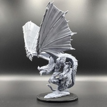 crystal dragon pose 2 tabletop creature dragons fantasy figurine mini monster rpg miniature crystal tabletop dungeosn