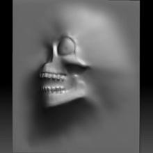 skull monster bas-relief stl file cnc & garden stl monster skull wall relief bas-relief router cnc