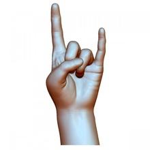 hard rock hand gesture male sign man wrist & garden gesture man wrist rock sign male hard