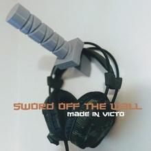 swordoffthewall headphone hook lego ninja sword wall katana wall hook