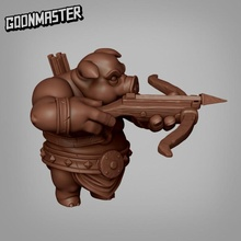 pig man - crossbow tabletop creature fantasy master medieval mini minion monster orc pig rpg miniature enemy tabletop crossbow dungeon dnd folk pathfinder hog goon hogfolk