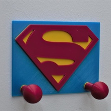 clothes hook kids superman logo decoration hook kids wall dc superman hang