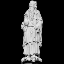 peygamber Aaron taramak adam heykel katedral sürahi mecazi peygamber high relief Artec Romanesk Aaron Openglam artec eva smk open Freiberg badem