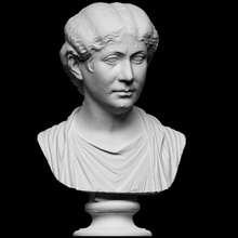 portrait roman lady scan 3d bust female hair lady neck portrait roman woman emperor antonia artec wavy cc0 openglam smk-open artev-eva