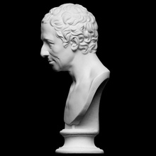 Vesika jj Winckelmann taramak büst adam heykel arkeolog Almanca erkek Alçı Artec Openglam artec eva smk open Winckelmann art historian