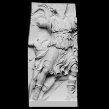 Dionísio sátiro Varredura 3d corpo Deus mitologia escultura Peru Berlim gesso sátiro quitão figurativo altar fragmento Dionísio cc0 openglam artec eva smk open pergamon