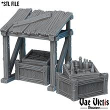 black market tabletop black eggs fantasy rpg tabletop underground stands market crates sceneries
