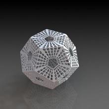 sci fi dodecaedro Tienda Arte diseño casa oficina patrón espacio estilo mesa plastico dodecaedro ciencia ficción resumen decoración elemento geometric shape mathematical art residential space