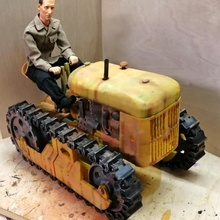 oliver cletrac inspired rc chain tractor rc cars cat tank bulldozer rc tractor rc car caterpillar rc vehicle dozer rc tractor chaintractor cletrac oliver cletrac