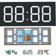 grande digitale orologio ragnatela temperatura umidità orologio digitale umidità temperatura