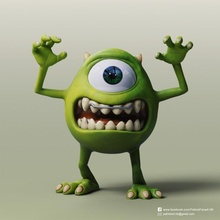 Miguel wazowski monstruos Universidad ventilador Arte pixar Mike Wazowski Monsters University