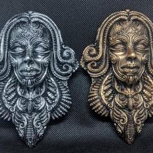 duvar maske paketlemek Bahçe Antik fantezi fdm maske reçine bilimkurgu paketlemek oryantal Hannya oni süslü telkari saç tokası duvar maskesi