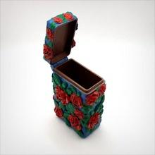 Box Scharnier gedruckt inspiriert romantisch Geschäft Box Lager romantisch Rosen