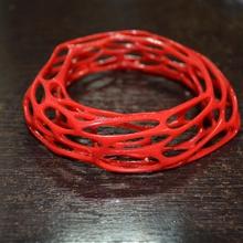 voronoi bracelet jewellery fashion accessory bracelet gift heart love people romance statue 3dprint 3dprinting 3dprinter 3dsmax 3dmodeling surprise kvantit 3d popular3d