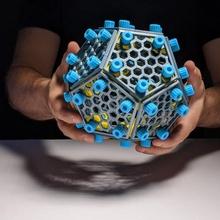 atornillado dodecaedro Tienda armar escritorio divertido regalo matemáticas matemáticas oficina pentágono mesa juguete construir montaje forma dodecaedro geometría construcción decoración poliedro poliedros