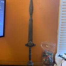 vagabundo espada antigo espada sombra colosso adereços cosplay suporte espada videogame