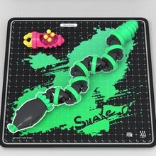 yılan oyuncak esnek mafsallı yılan kolay baskı skelpix hacmanhac oyuncak yılan