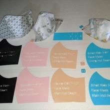 Stoff Gesicht Maske Vorlage Muster Tasche 12mm elastisch Einsteller Barrierefreiheit elastisch Gurt Schutzmaske Coronavirus covid 19 covid19 Covidmask Coronavirus Gesicht Maske